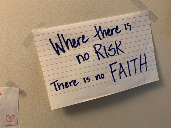 Where there is no RISK, there is no FAITH
