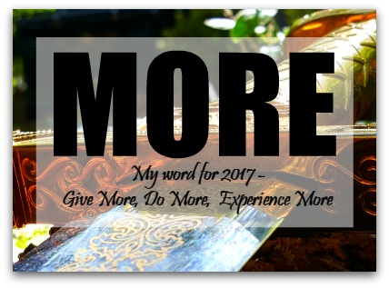 More - The word for 2017 - MB Dahl