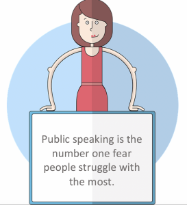 Public speaking is the number one fear people struggle with the most.